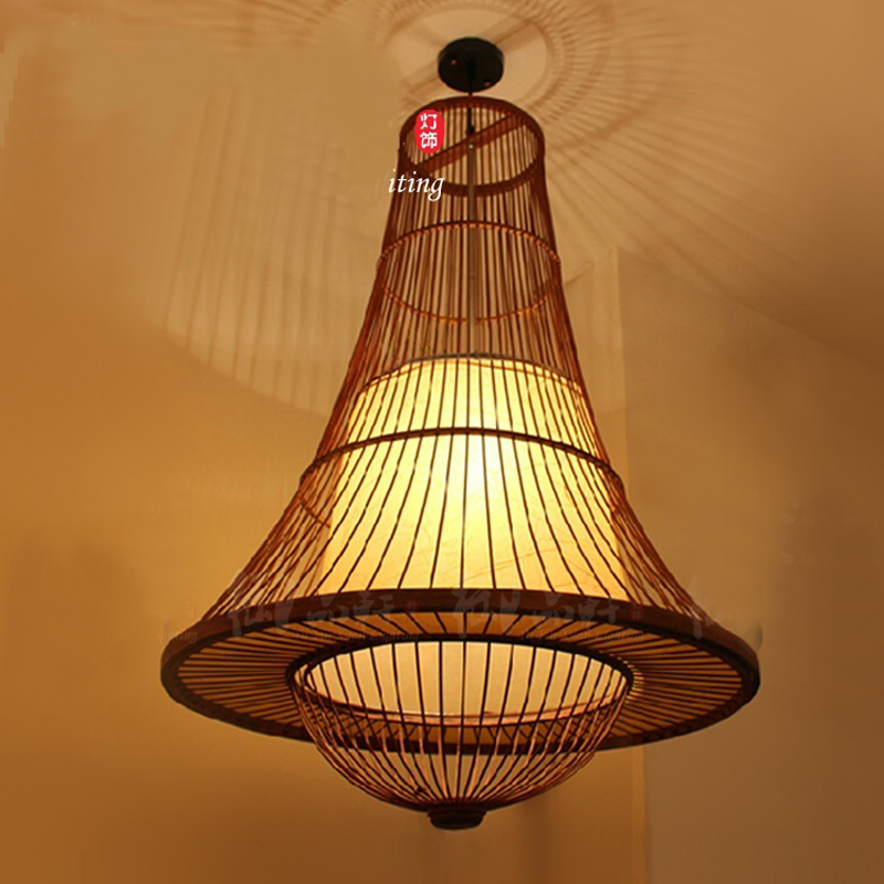 Southeast Asian retro style restaurant club projects living room handmade bamboo pendant lights LO72613 joan escandell handmade illustration 1 000 retro style drawings