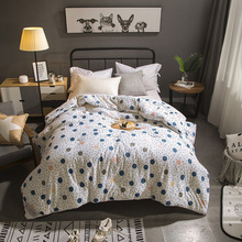2018 Blue Dots White Winter Comforters Twin Queen King Size Quilting Quilt Cotton Fabric Polyester Fiber Stitching Quilt quilt fiber light collection comfort production company ecotex russia