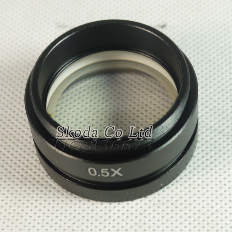 Free shipping 0.5X Barlow Lens for Industrial Microscope Camera Objective lens for 10A C-MOUNT lens 2X Visual field new high quality 2x objective optical lens for stereo microscope parts with free shipping