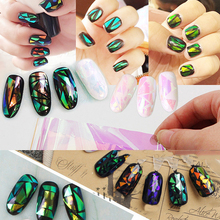 20pcs Charm Nail Foils Polish Stickers Metal Color Starry Paper Transfer Foil Wraps Adhesive Decals Nail Art Decorations 1 sheets diy polish decorations beauty charm blue flower nail art stickers decals full wraps foils manicure decorations xf1372