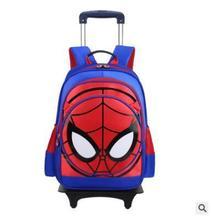 3d человек-паук, детский дорожный багажный рюкзак на колесиках, рюкзак на колесиках для мальчиков с колесиком для школы, детский школьный подвижный мешок