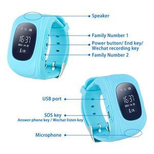 Image 5 - Q50 Relógio Inteligente Relógio Crianças GPS Crianças Telefone Bebê Relógios Monitor de Chamada SOS Localizador Rastreador Anti Perdido Alarme PK q90 Q02