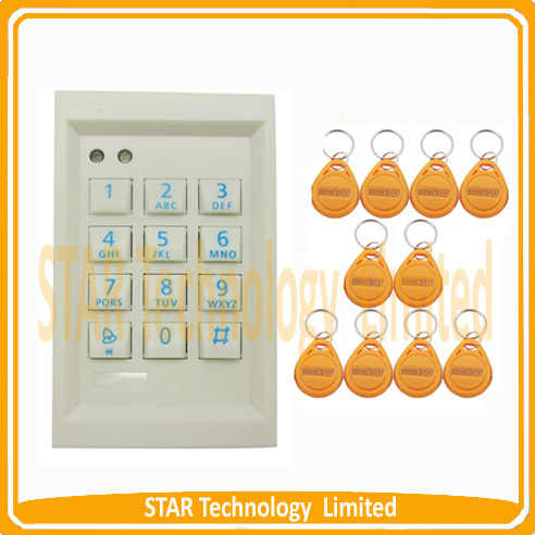ФОТО  + RFID back light keypad single door standalone access controller 1000 users