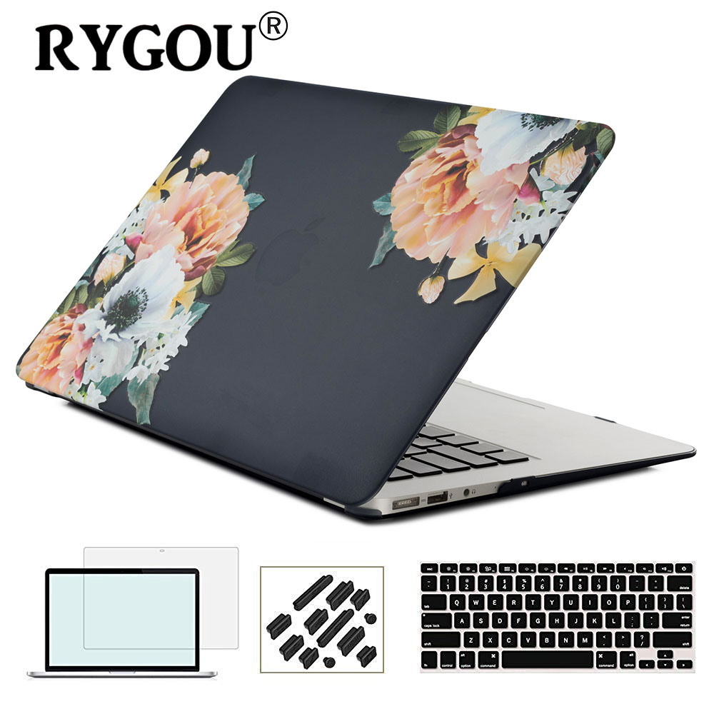 Laptop Case Cover For Apple MacBook Air Pro Retina 11 12 13 15 for New Mac Pro 13 15 inch With or Non Touch Bar 2016 2017 2018