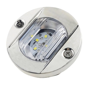 Image 4 - 12V LED Marine Boat Yacht Light Transom Stainless Steel Anchor Stern Light Waterproof White Round Boat Taillight