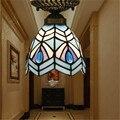 Tiffany lâmpada do teto, estilo europeu Barroco, Med, Bohemia tiffany luz de montagem em superfície, 16 CM da cauda do pavão TFC-003-16CM