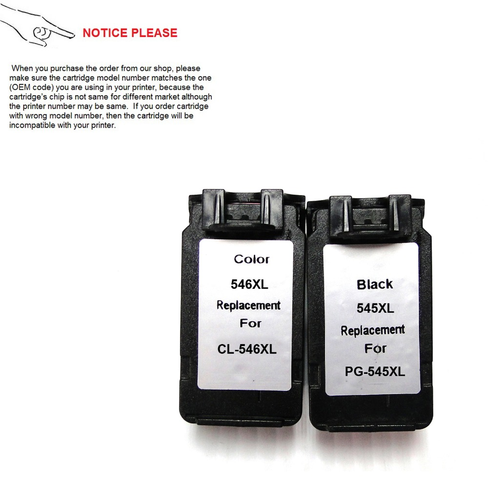 YOTAT 1set Remanufactured Ink Cartridge PG545XL PG545 CL546 for <font><b>Canon</b></font> MG2400 MG2580 (Europe) image