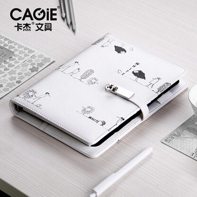 CAGIE Cute Travelers Notebook recarga a5 Binder diario Personal espiral Filofax a6 planificador divisores Agenda organizador de cuero