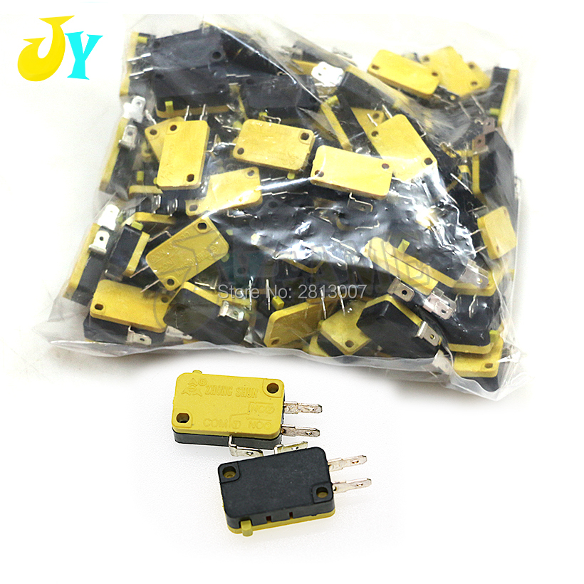 100pcs 3pin Microswitch CHILONG Micro Switch For Arcade Game Button Joystick Parts Free Shipping