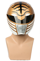 XCOSER White Ranger Full Head Helmet Halloween Mask Cosplay Props Costume Accessory For Power Rangers