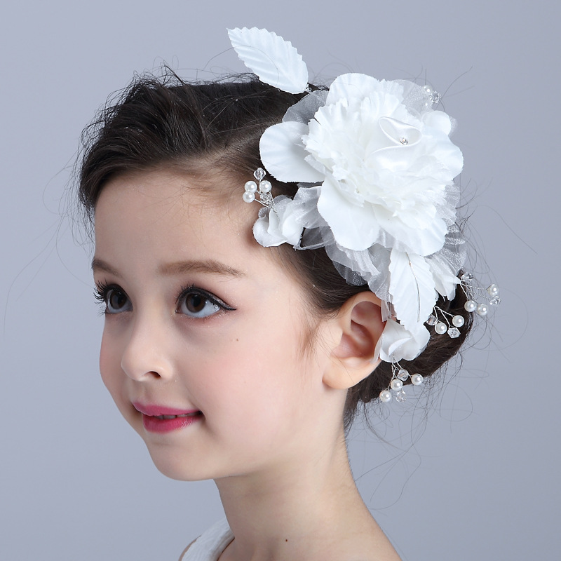 2017 Fashion Irils Pearl Hairpin Wedding Dress Hair Accessories Children S Outstanding White