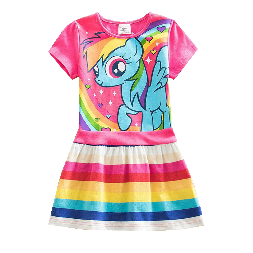 NEAT retail meisje cartoon jurk meisje lente zomerjurk unieke cartoon - Kinderkleding