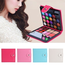 2017 32 Color Women Shimmer Eyeshadow Eye Shadow Palette Makeup Cosmetic Brush Set JUL19_43