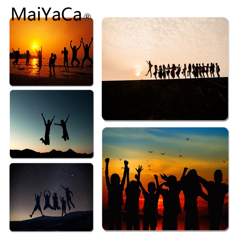 MaiYaCa Sunset Silhouette Customized laptop Gaming mouse pad Size for 18x22x0.2cm Gaming Mousepads