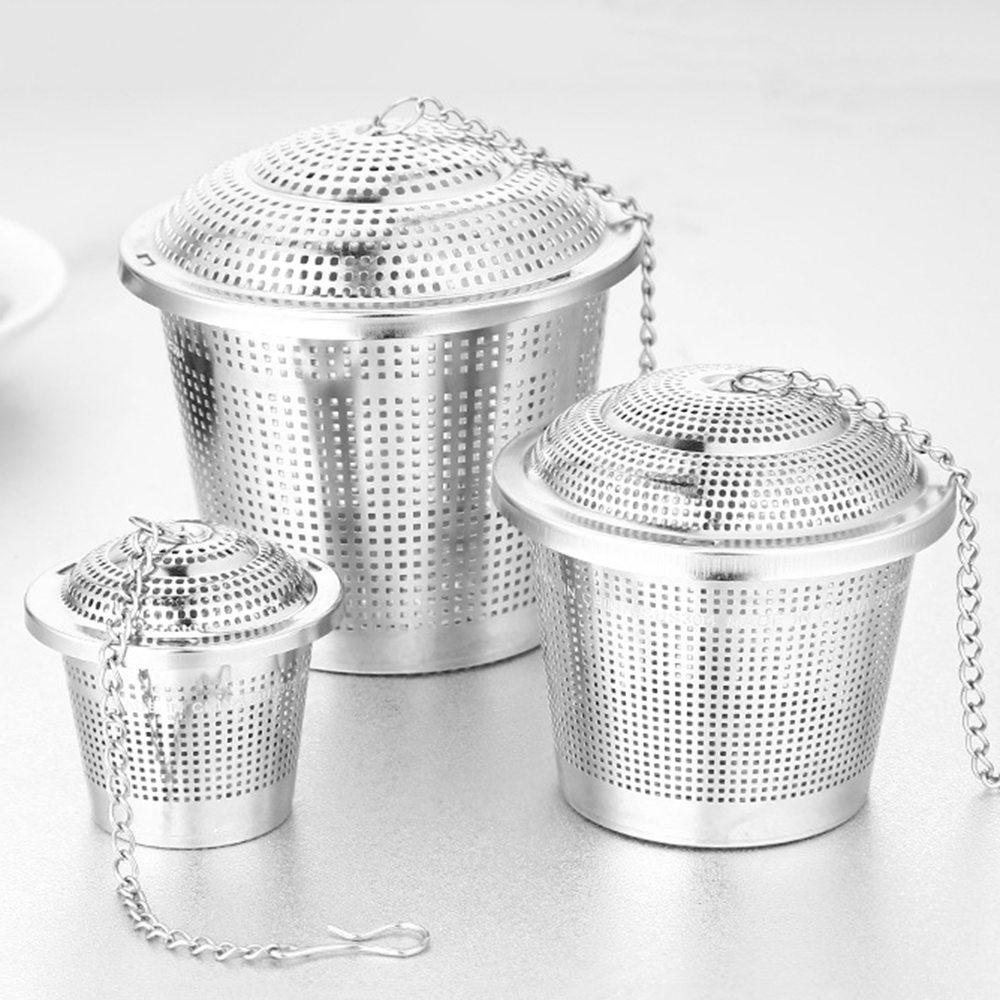 Stainless Steel Tea Infuser Reusable Mesh Tea Strainer Fine Teapot Leaf Spice Coffee Filter Drinkware Kitchen Accessories S/M/L
