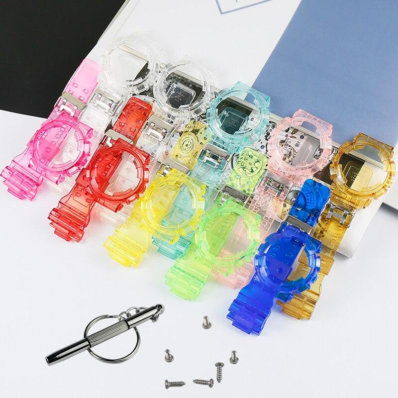 Men's Resin Strap Case Watch Accessories For CASIO G-SHOCK GD120 GA100 GA110 GD110 Sports Waterproof Strap Women Watch Band