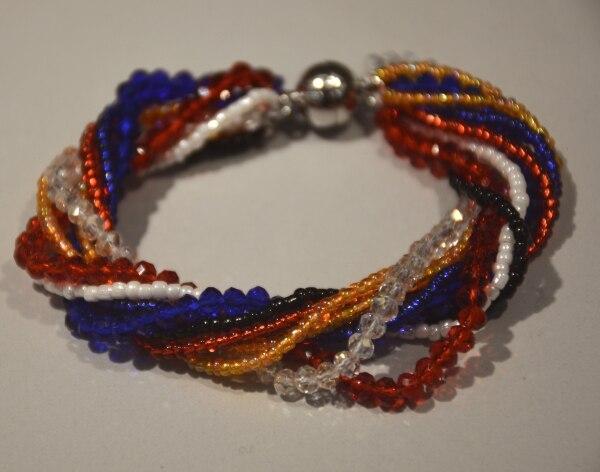 Main mixcolor Tchèque perles de graines de Verre cristal tissé wrap bracelet ebe8c9a8299f