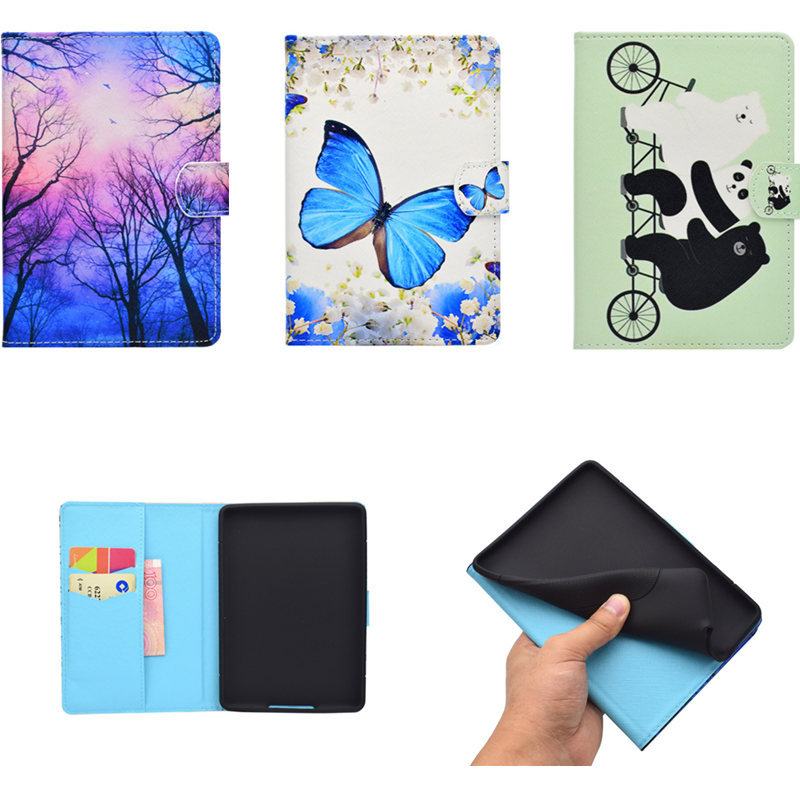 Cute PU Leather Case For Amazon Kindle Paperwhite Skin Shockproof Cover Fit For Paperwhite 2013 2015 2016 2017 6th generation hhi ipod nano 6th generation silicone looper skin case yellow