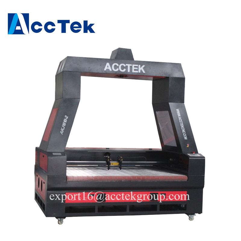 Auto feeding textile cnc Co2 Laser cutting machine-2 heads / made in China double laser heads laser machine