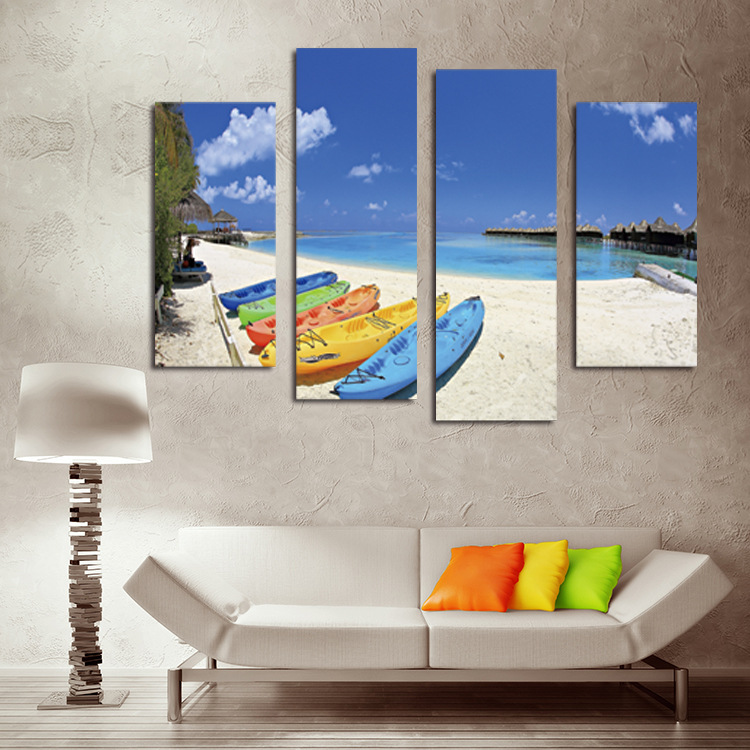 Aliexpress.com : Buy Blue Sky Canvas Painting White Sand