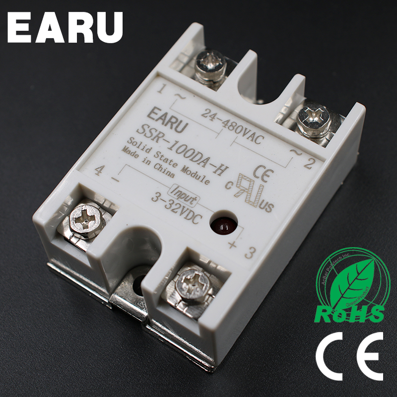 Solid State Relay SSR-100DA-H 100A SSR 100DA-H 3-32V DC TO 90-480V AC  solid state Resistance Regulator normally open single phase solid state relay ssr mgr 1 d48120 120a control dc ac 24 480v