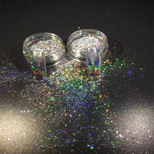 0.2G/Box GALAXY HOLO Nail Flakes Magic Holographic Chameleon Bling Rainbow Chrome Powder