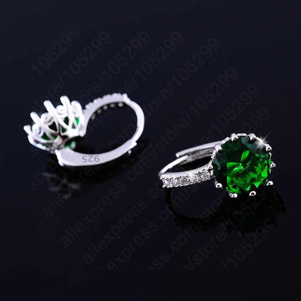 Luxury Colorful Genuine 925 Sterling Silver Jewelry AAA Cubic Zirconia CZ Earrings Women Part Accessories Gift