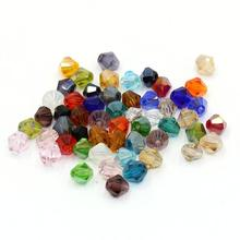 Bicone Faceted Glass Cystal Beads 4mm 350pcs High quality Colorful Spacer Loose beads for jewelry making bracelet DIY
