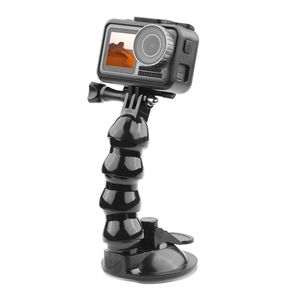 Image 2 - Black Car Bracket Holder Suction Cup Adapter Driving Recorder Ball Head Tripod for DJI Osmo Pocket Action Camera Accessories
