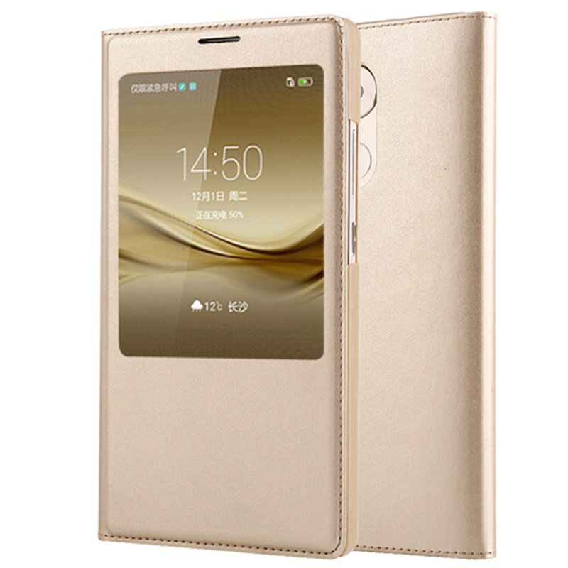 Original Flip Cover For Huawei Mate 8 Leather Genuine Case 6.0