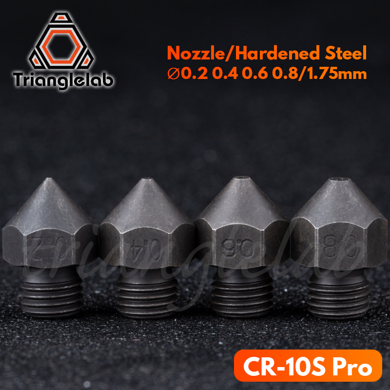 trianglelab CR-10S pro Hardened steel Nozzle High temperature printer1 75MM J-head cr10S PRO heat block hotend Thread m6