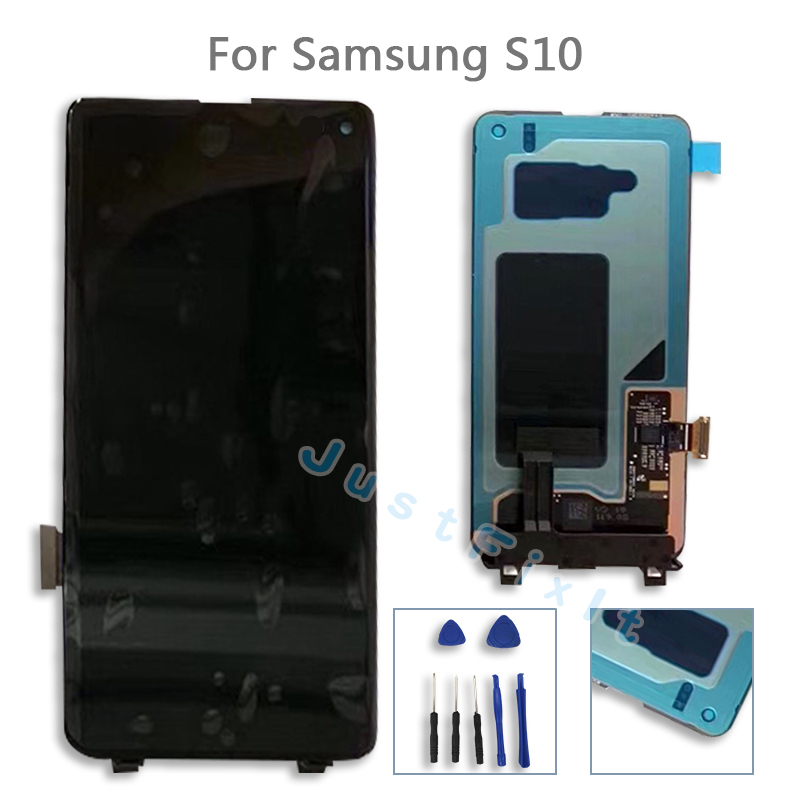 For Samsung Galaxy S10 S10 Plus SM-G9730 G973F G973U G973N LCD Display Touch Screen Digitizer Assembly Original Super AmoledFor Samsung Galaxy S10 S10 Plus SM-G9730 G973F G973U G973N LCD Display Touch Screen Digitizer Assembly Original Super Amoled