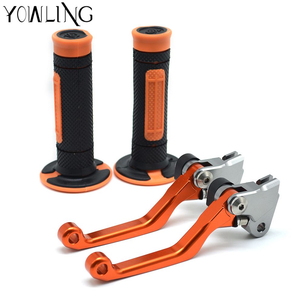 For KTM 300EXC 300XC 350EXC-F SIX DAYS 2014 2015 2016 motorcycle brake lever and hand grip Dirt Bike Pivot Brake Clutch Levers