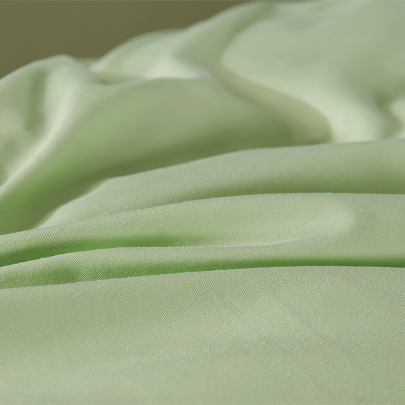 13372 High Density Duvet Cover Set with Buttons Design Four Pieces Bedding Set Bed Sheet Queen King Green Red Pink