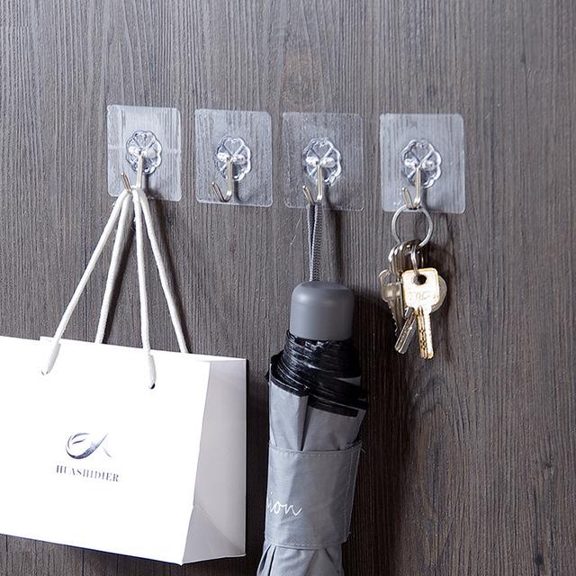 Kitchen Gadgets 6PCs Wall Hooks Strong Suction Cup Sucker Hanger For Kitchen Home Kitchenware Storage Kitchen Tooks Accessories