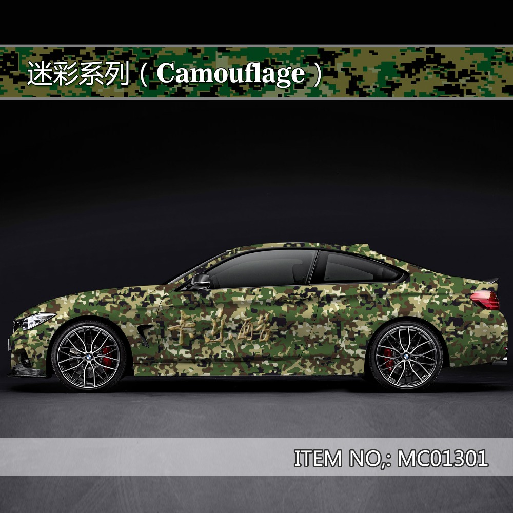 Camouflage personnalisé autocollant de voiture bombe Camo Enveloppe de Vinyle De Voiture Wrap Avec Air Sortie flocon de neige bombe autocollant De Voiture Corps StickerMC013