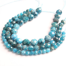 LanLi  natural jewelry 4/6/8/10mm Carved on the apatite loose Beads DIY men and women Bracelet Necklace  anklet Accessories