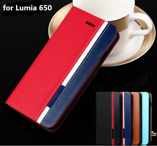 for Nokia lumia 650 N650 Business & Fashion Flip Leather Covs