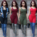 2017 Fitness Rompers Women Jumpsuit Bodycon Backless Tights Club Bodysuits Summer Sexy Romper Party Jumpsuits Catsuit overalls