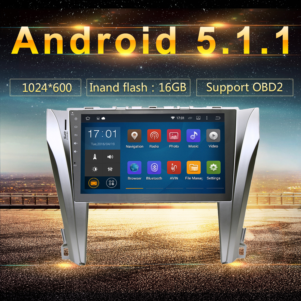 android 51 2din car gps player navi for toyota camry 2015
