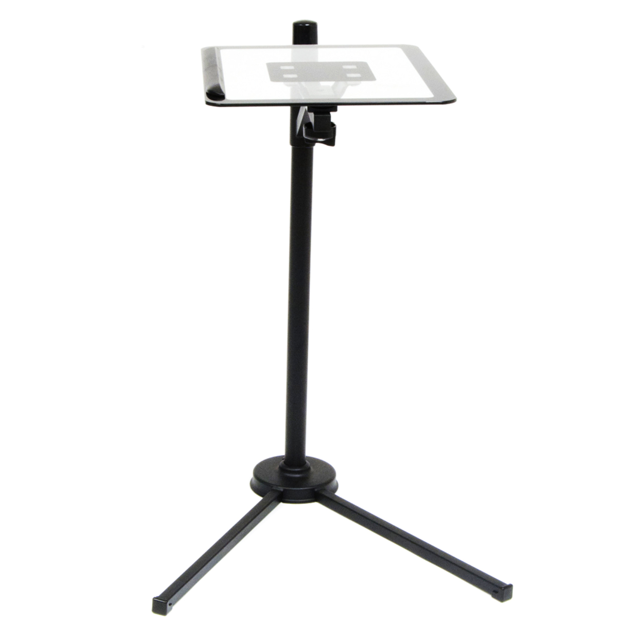 Offex Home Office Calico Tech Stand - Black/Clear Glass