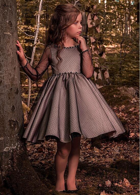Long Sleeve Flower Girl Dress 2018 For Wedding Princess Toddler Girl Dresses for A-Line First Communion Dresses For Little Girl little girl infant girl toddler girl s formal dresses with stunning crystal beading 1t 6t g155