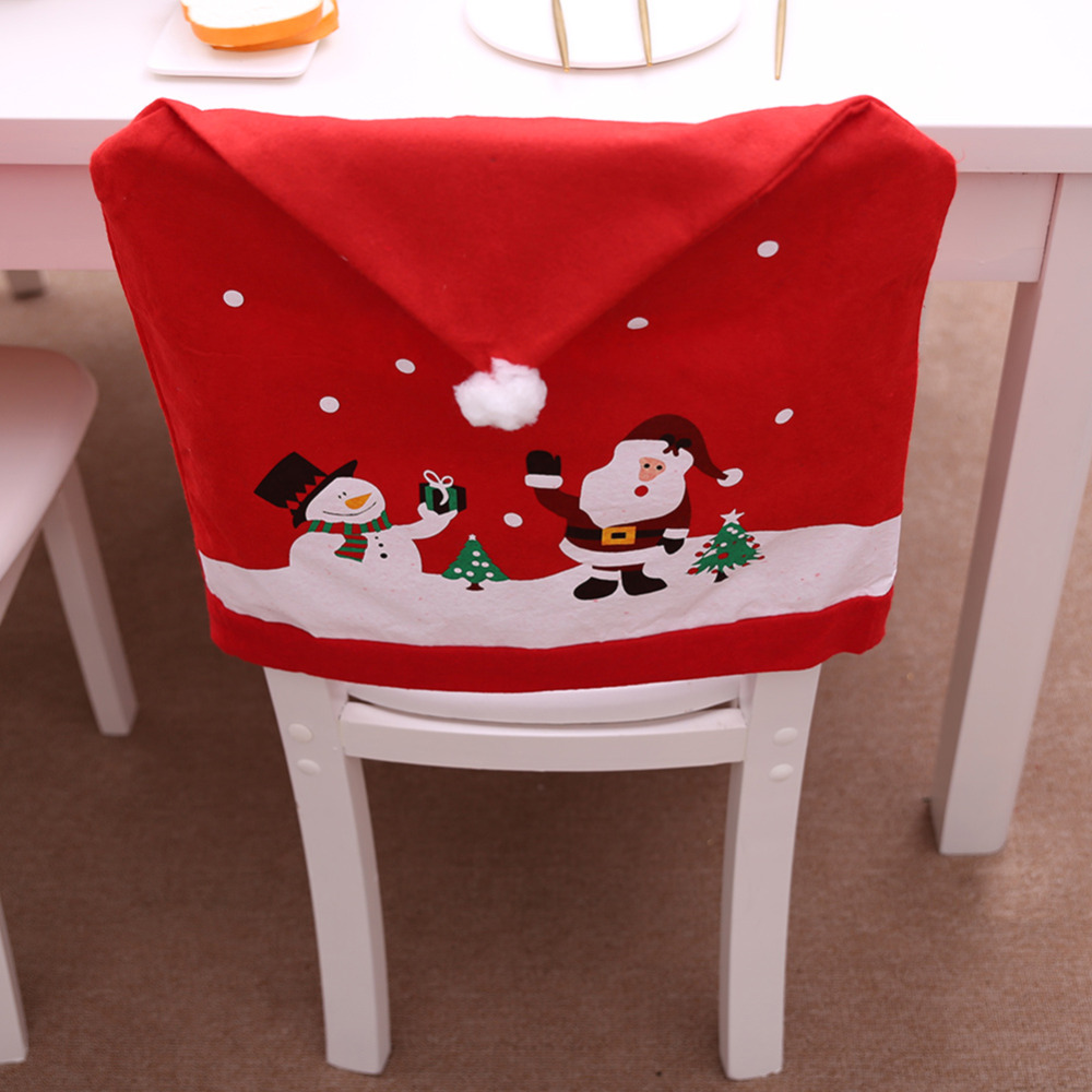 Christmas Chair Back Cover