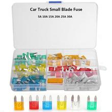 цена на 120pcs Car Small Blade Fuses Low Profile 5A 10A 15A 20A 25A 30A Set Auto Truck Insurance Kit Plastic Box Assortment with Clip 30