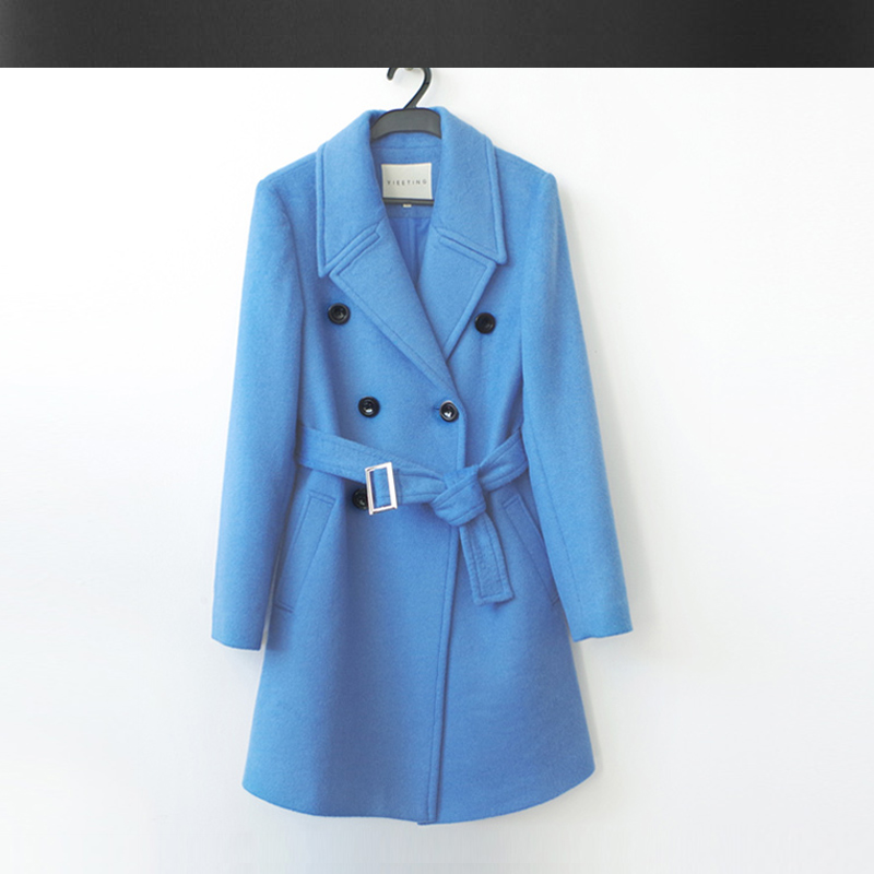Aliexpress.com : Buy Light blue wool coat autumn / winter women's ...
