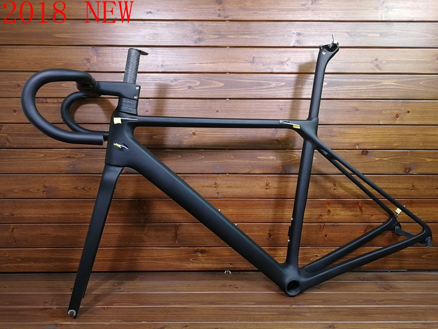 2018 new CF SLX T1000 TOP black carbon road frame racing bicycle racing bike frameset handlebar