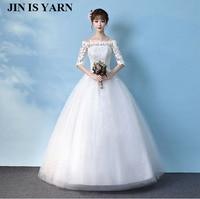 ZJ9036 2016 2017 lace white ivory A word wedding dress bride dress dress retro large size size custom size 2 26W