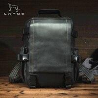 Men Backpack Leather Male Functional bags Men Genuine Leather Laptop backpack big capacity Men Bag School Bags For Teenager