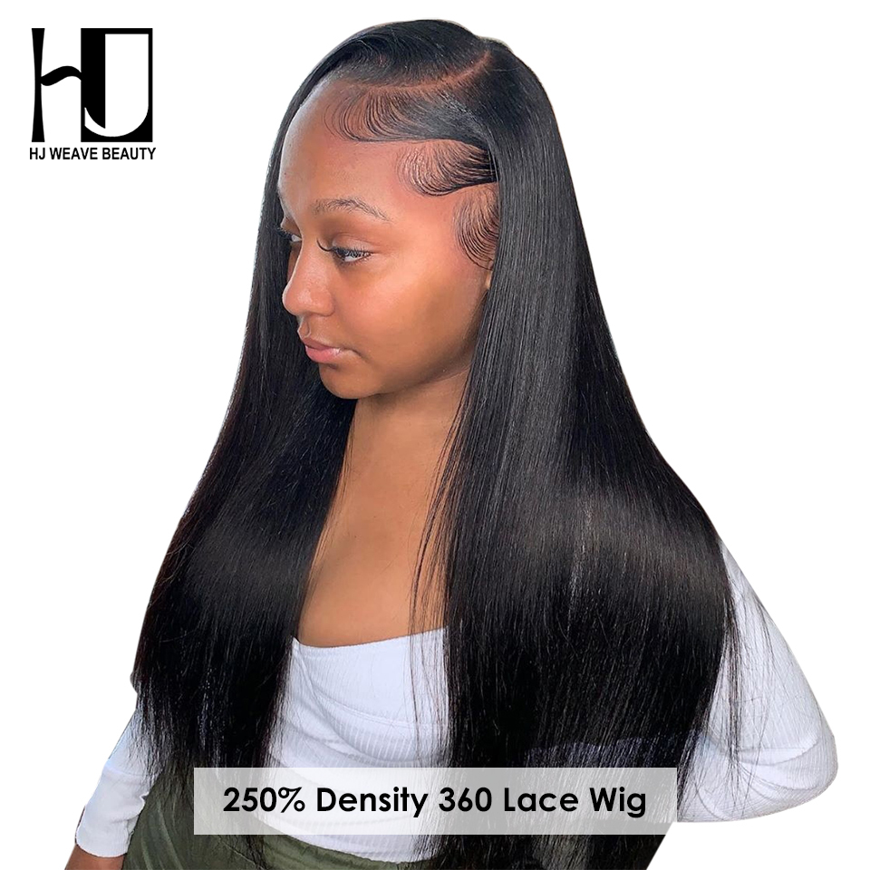 360 Lace Frontal Wig Brazilian Virgin Hair Straight 360 Full Lace Frontal Human Hair Wigs Pre Plucked Hairline With Baby Hair-in Human Hair Lace Wigs from Hair Extensions & Wigs    1