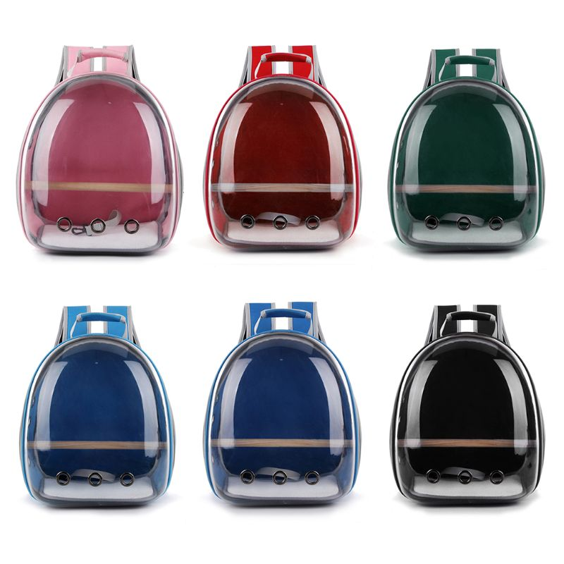 Fashion Pet Parrot Carrier Bird Travel Bag Space Capsule Transparent Backpack Breathable Sightseeing